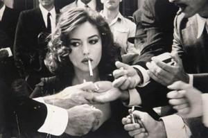 she smokes crowd